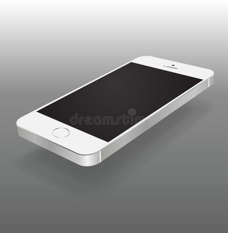 Smartphone-spot omhoog royalty-vrije illustratie