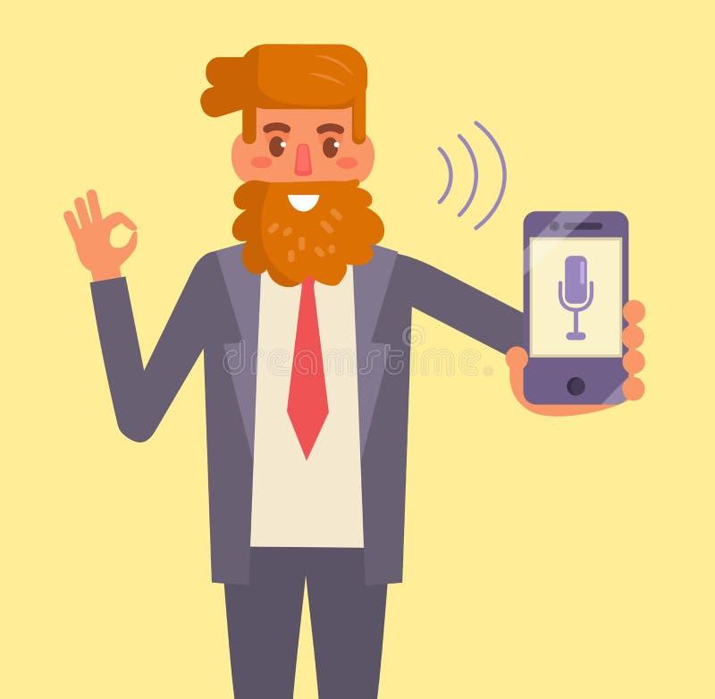Smartphone Stemcontrole vector illustratie