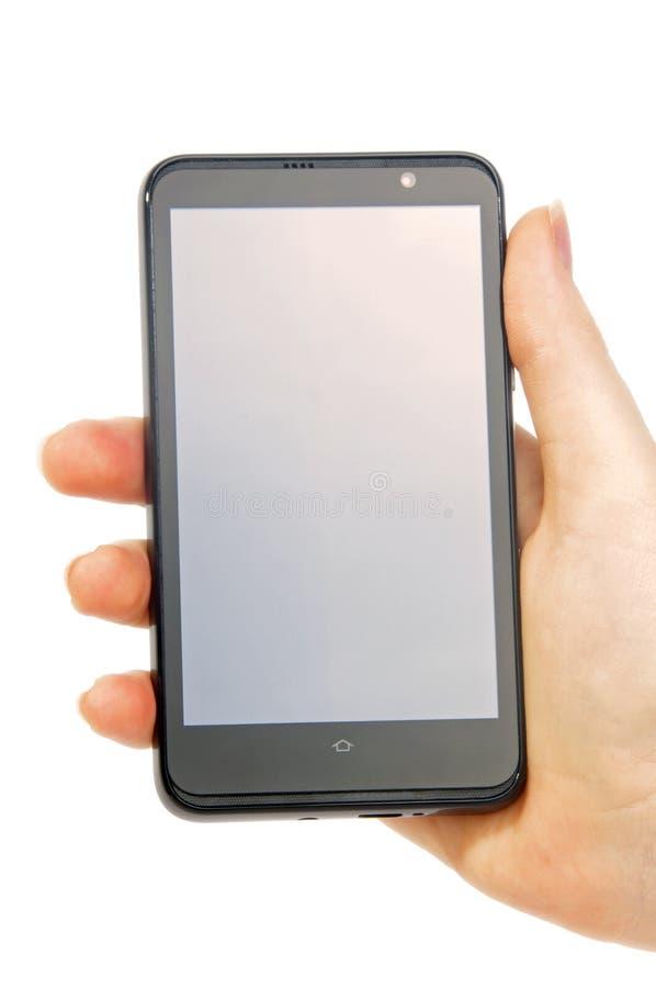 Smartphone su bianco immagine stock libera da diritti