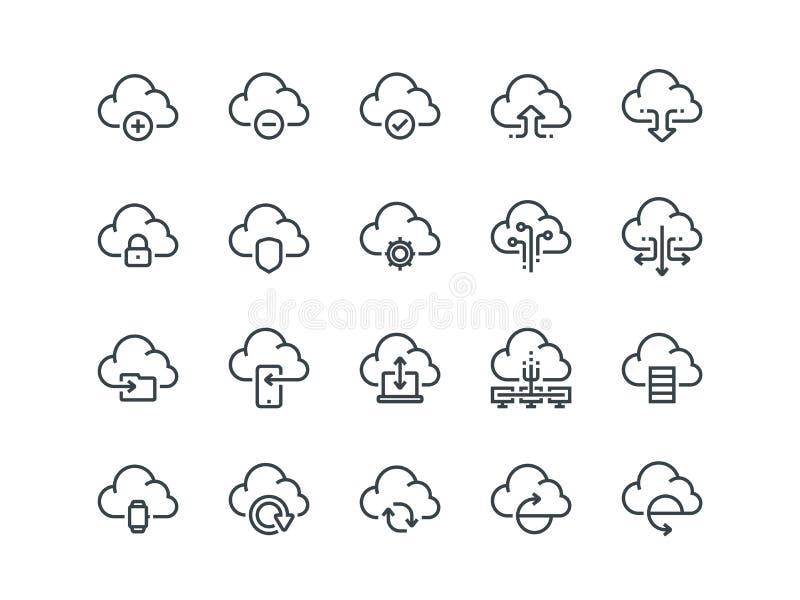 Smartphone surft auf Wolke im Himmel Satz Entwurfsvektorikonen Schließt wie Daten-Synchronisierung ein vektor abbildung