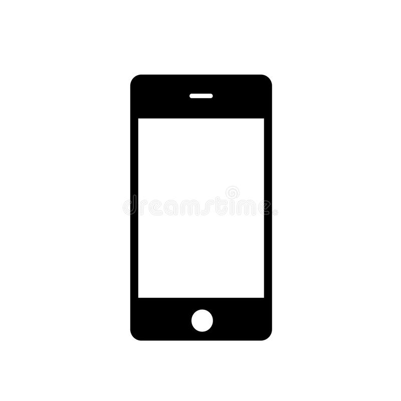 Smartphone symbol stock illustrationer