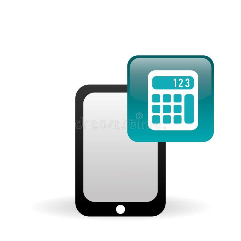Smartphone symbolsdesign, vektorillustration stock illustrationer