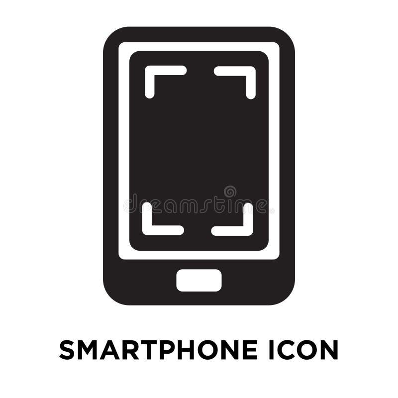 Smartphone symbolsvektor som isoleras på vit bakgrund, logoconcep vektor illustrationer