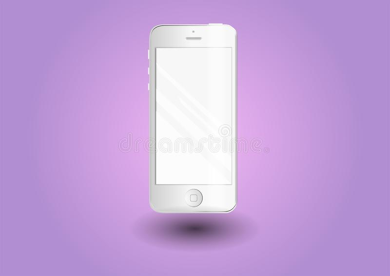 Smartphone Téléphone blanc élégant illustration de vecteur