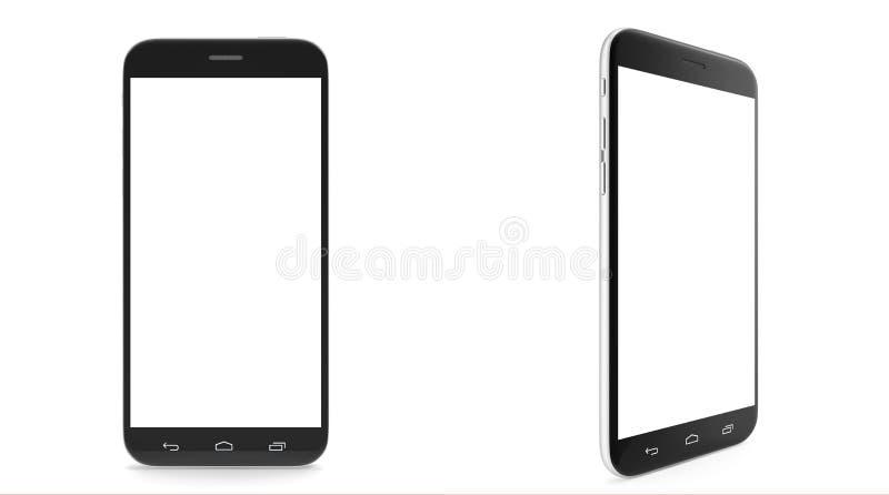 Smartphone, téléphone portable, avec un écran vide illustration de vecteur