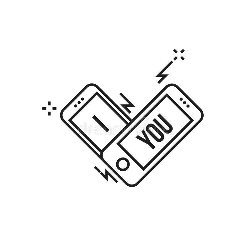 Smartphone te amo ilustración del vector