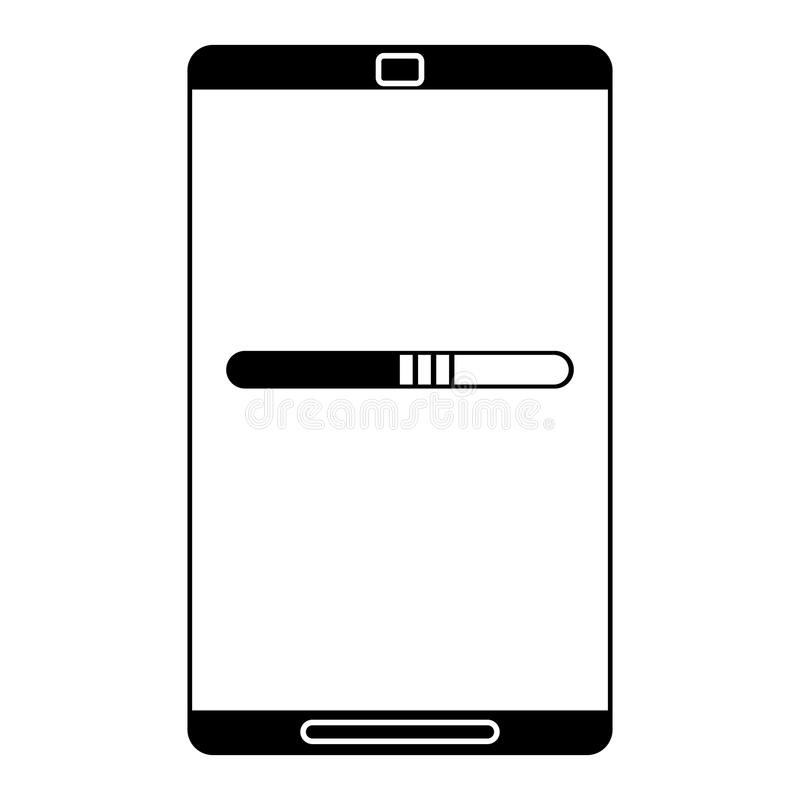 smartphone technologii ładunku mobilny piktogram royalty ilustracja