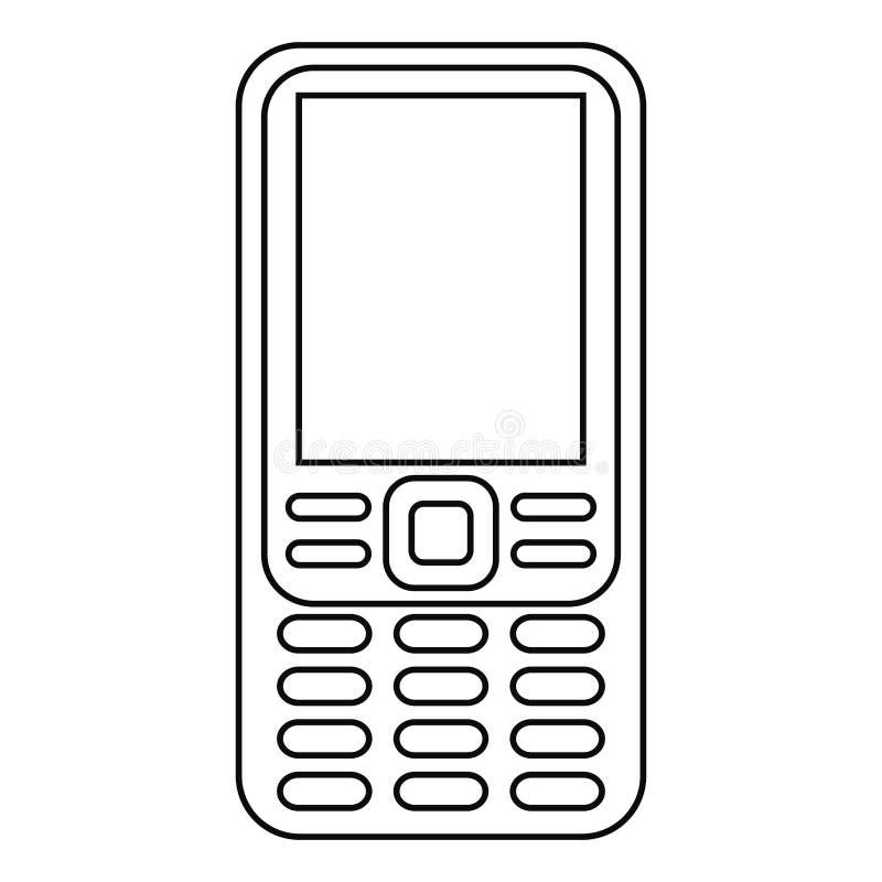 smartphone technologii rocznika mobilna linia royalty ilustracja