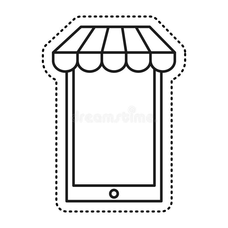 Smartphone technology commerce online icon. Illustration design stock illustration
