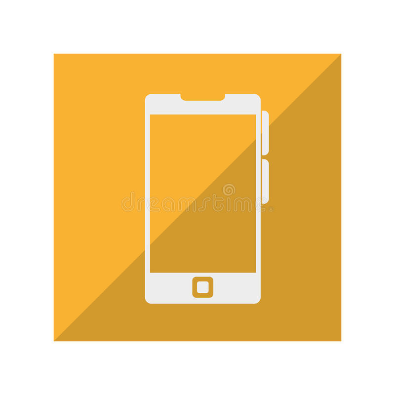 Smartphone technology isolated icon. Illustration design vector illustration