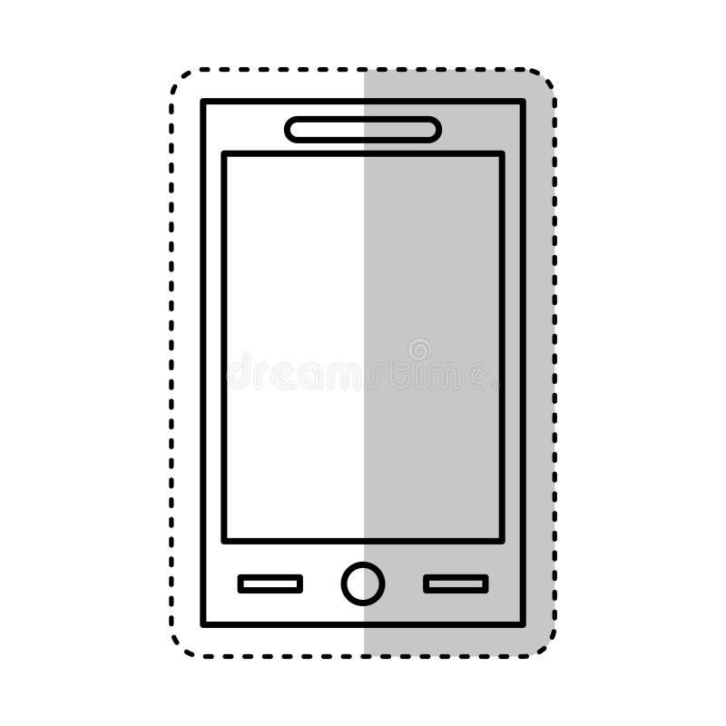 Smartphone technology line icon. Illustration design stock illustration