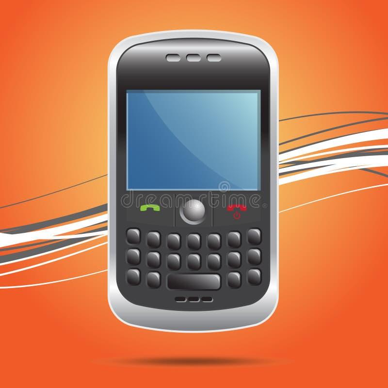 Smartphone tenu dans la main sans fil illustration de vecteur