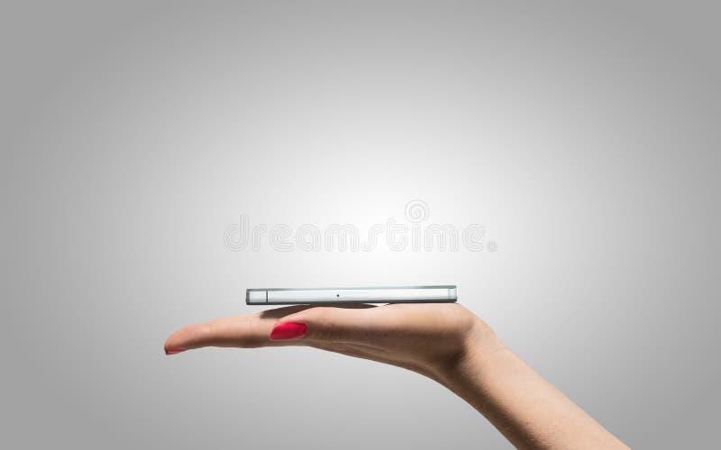 Smartphone ter beschikking royalty-vrije stock foto