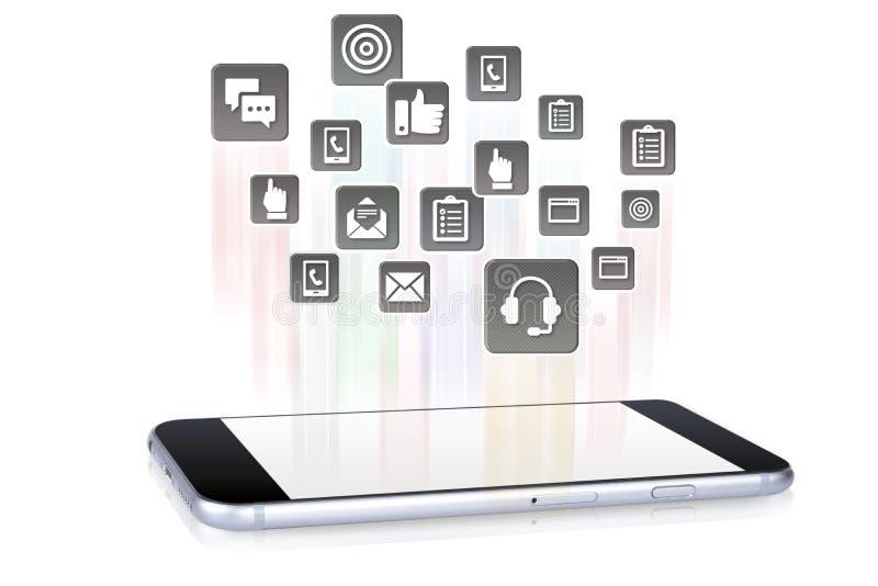 Smartphone-Toepassingen die uit komen royalty-vrije stock foto's
