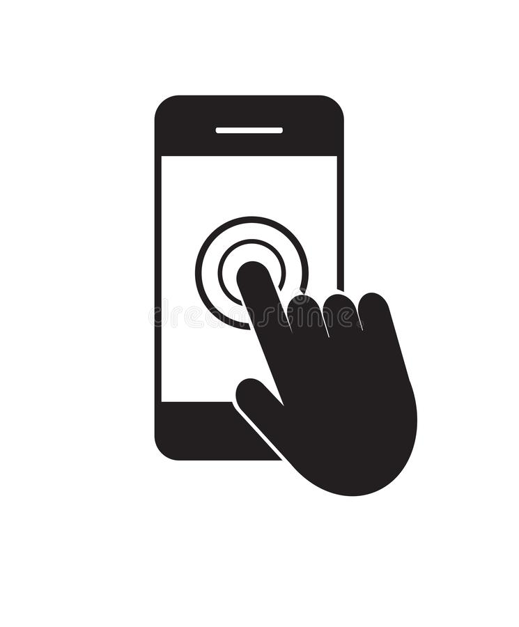 Smartphone touch screen icon. Vector illustration. on white background stock illustration
