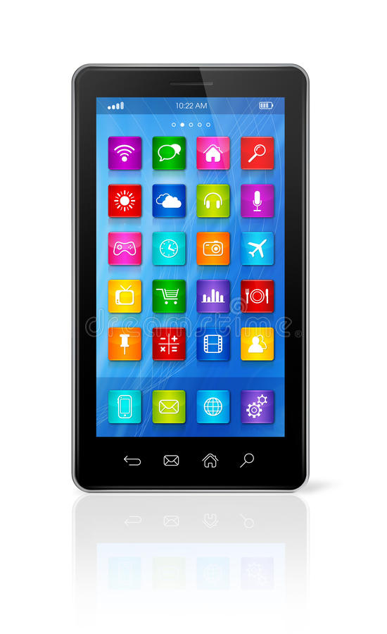 Download Smartphone Touchscreen HD - Apps Icons Interface Stock Illustration - Image: 35567265