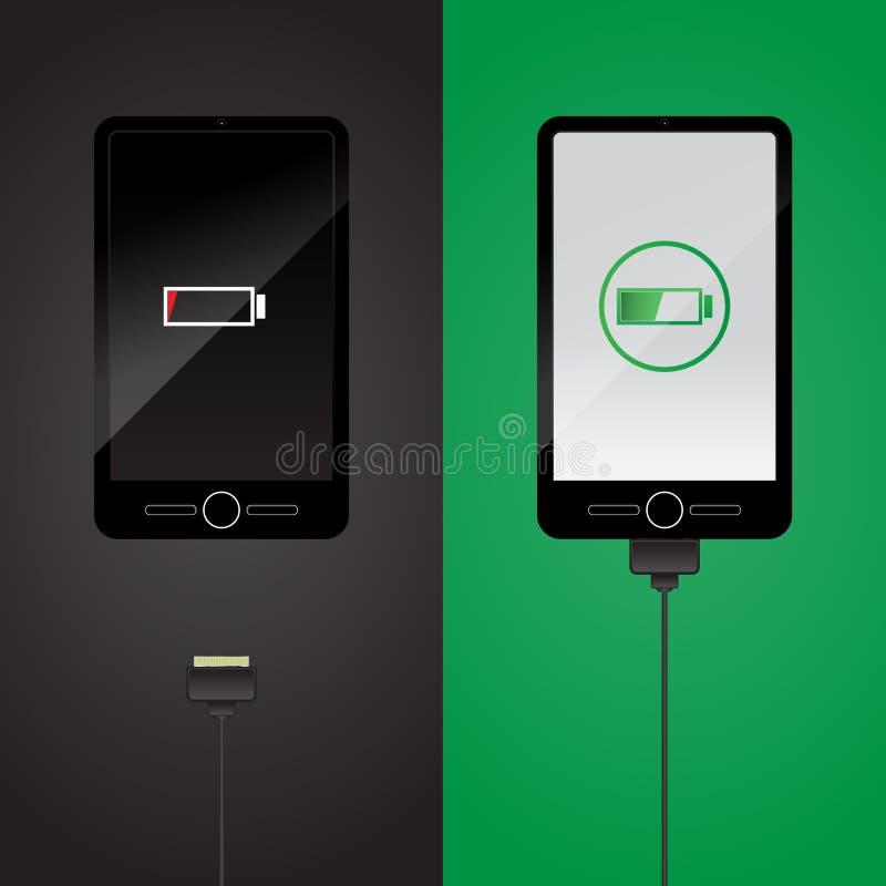 Smartphone uppladdning stock illustrationer