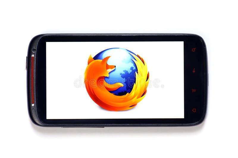 Smartphone van Firefox stock afbeeldingen