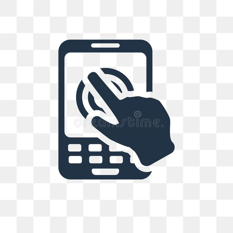 Smartphone vector icon isolated on transparent background, Smart vector illustration