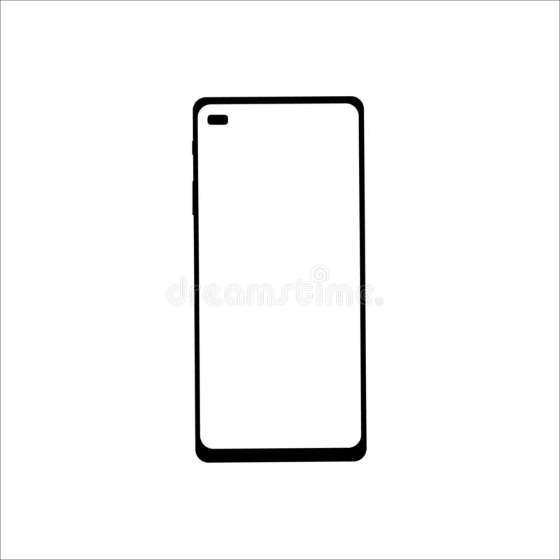 Smartphone vector image. Premium quality phone icon. stock illustration