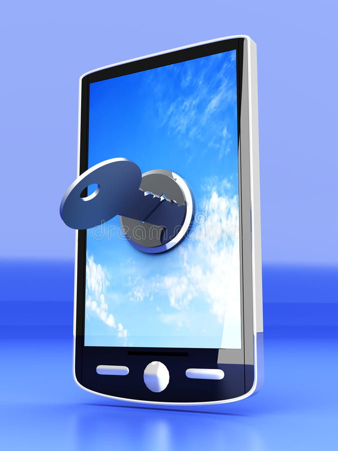 Smartphone verrouillé illustration libre de droits