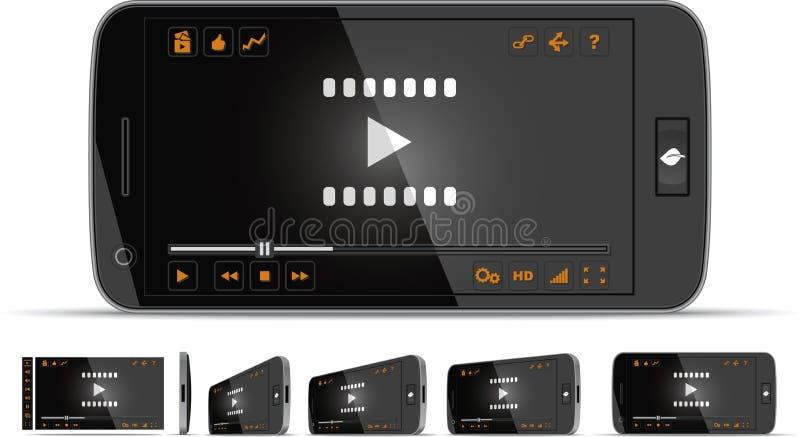 Smartphone-Video-Player vektor abbildung
