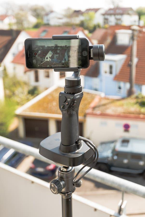 Smartphone-Videopanoramaeinrichtung lizenzfreies stockbild
