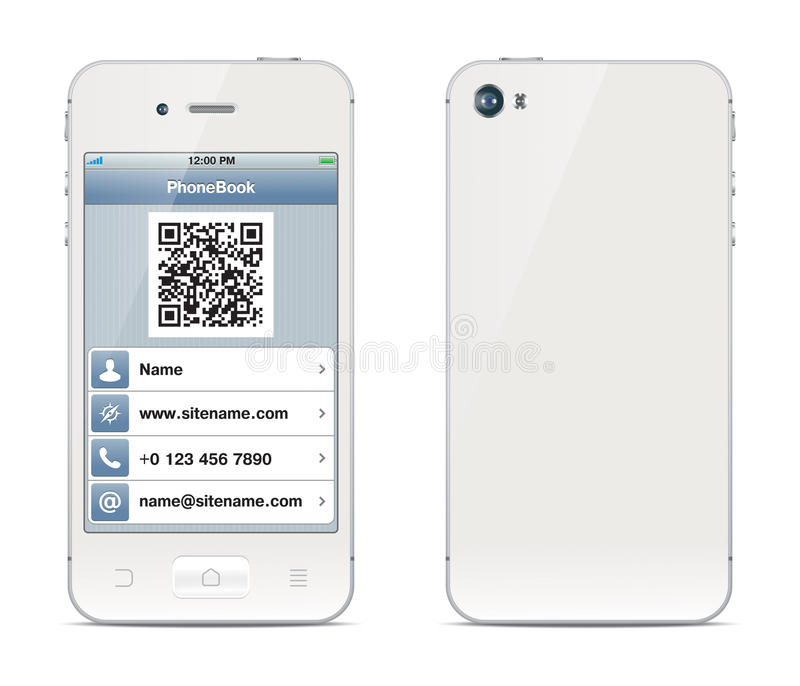 Smartphone visiting card illustration royalty free stock images