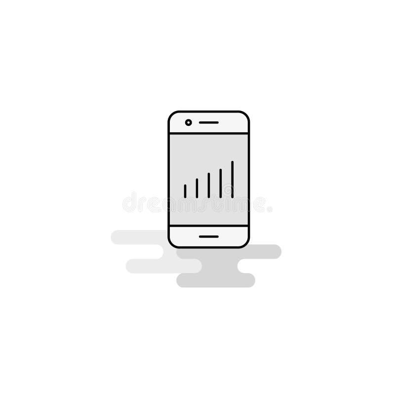Smartphone-Webpictogram Vlak Lijn Gevuld Gray Icon Vector royalty-vrije illustratie