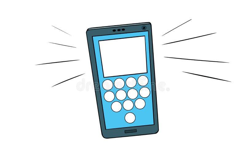 Smartphone wezwania, dotyka ekran ilustracja wektor