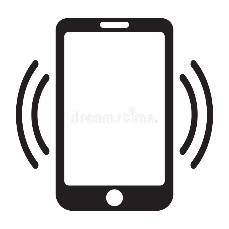 Smartphone wezwania ikona, telefon komórkowy wywoławcza ikona royalty ilustracja