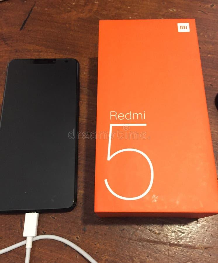 Smartphone Xiaomi Redmi 5 Android stockfotos