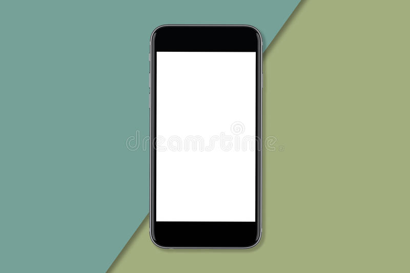 Smartphone z pustym ekranem reklama projekt obraz royalty free
