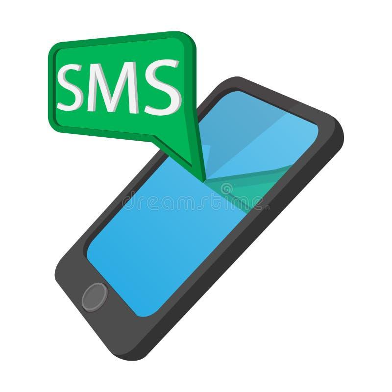 Smartphone z wiadomość bąbla kreskówki ikoną ilustracji