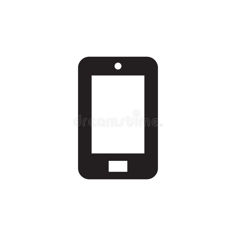 Smartphone - zwart pictogram op witte vectorillustratie als achtergrond voor website, mobiele toepassing, infographic presentatie stock illustratie