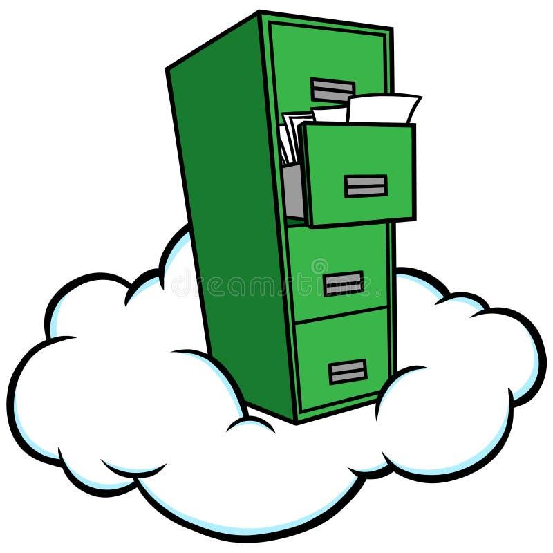 smartphonen surfar på molnet i himmel stock illustrationer
