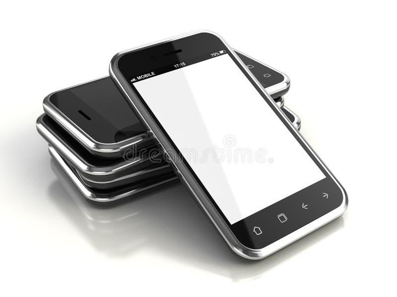 Smartphones сенсорного экрана бесплатная иллюстрация