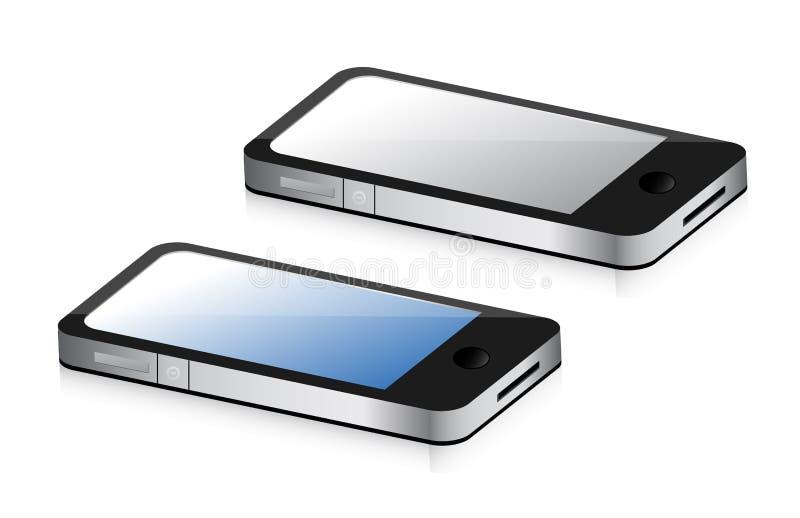 Smartphones, синь и серый цвет бесплатная иллюстрация
