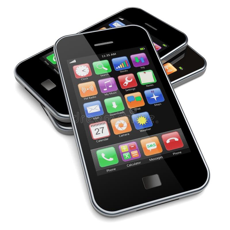 Smartphones illustration libre de droits