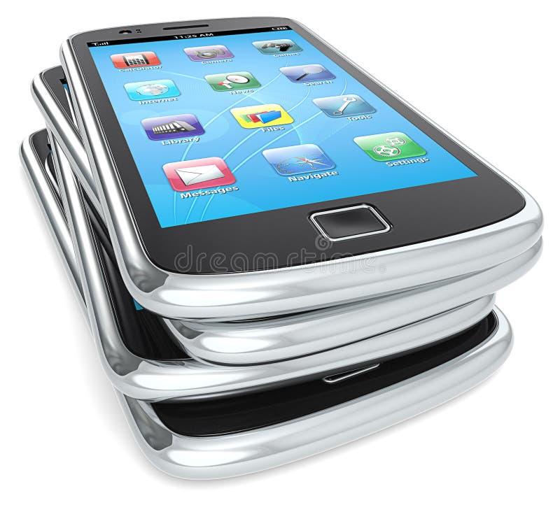 Smartphones. illustration de vecteur