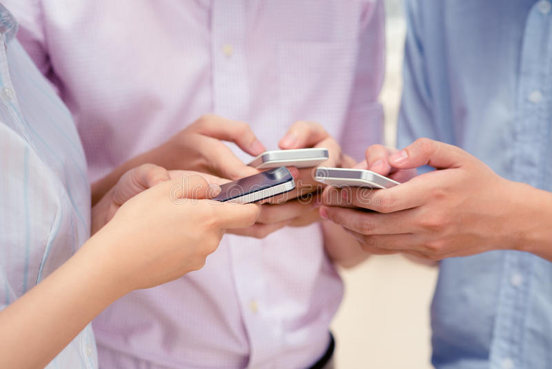 Smartphones royalty free stock image