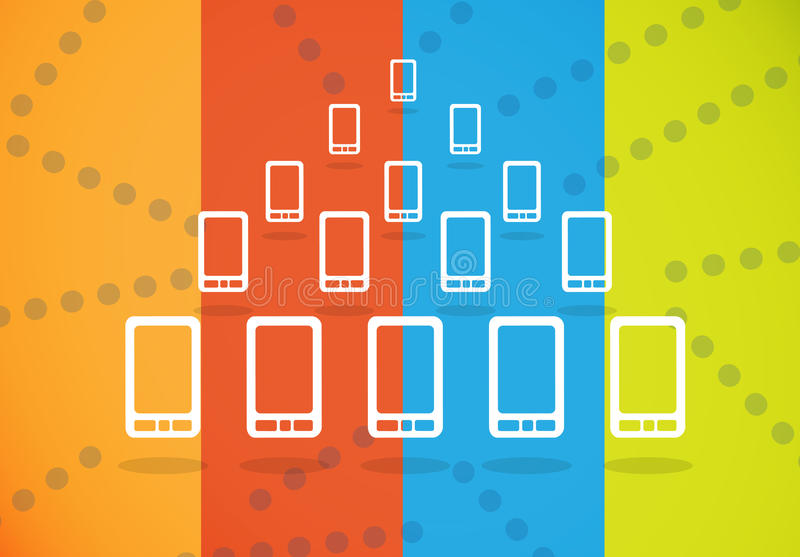 Download Smartphones crowd group stock illustration. Image of stand - 32152798
