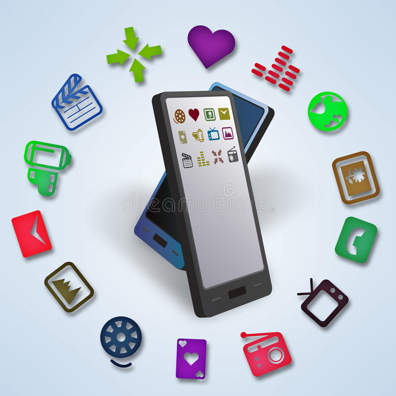 Smartphones Data And Content Transfer Stock Photos