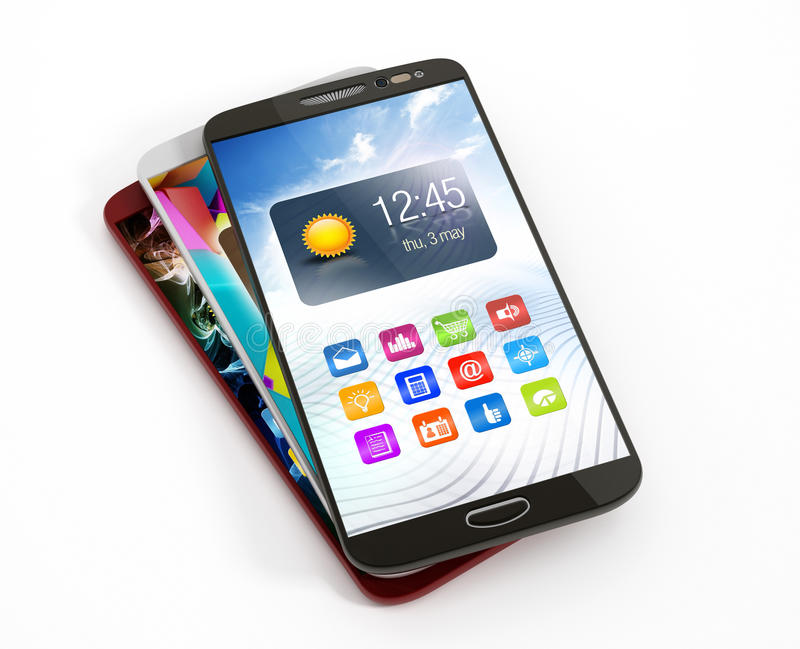 Smartphones vector illustration