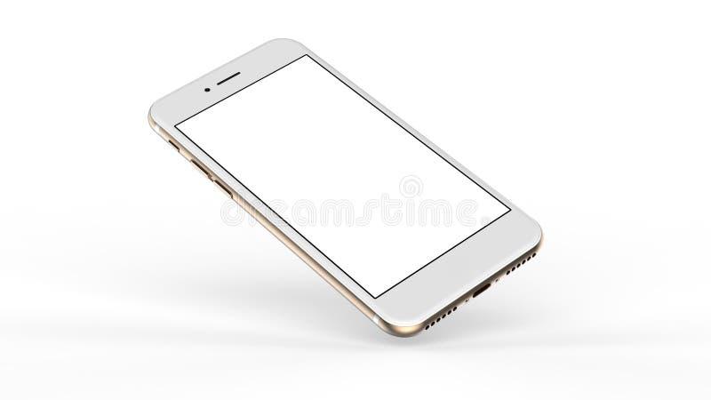 Smartphones do ouro com tela vazia foto de stock