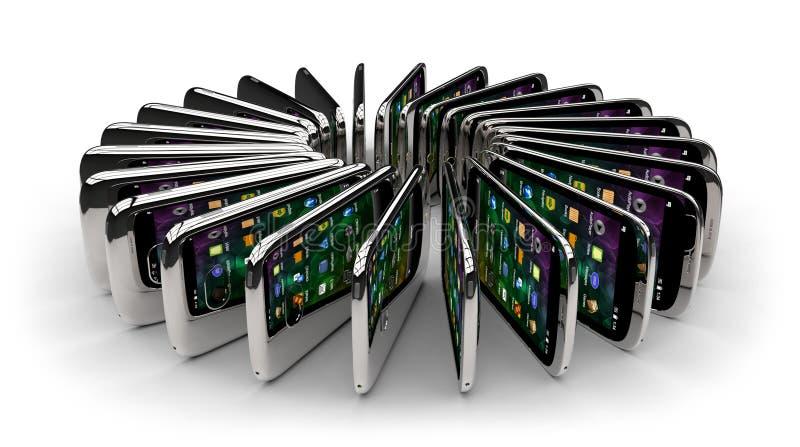 Smartphones genéricos stock de ilustración