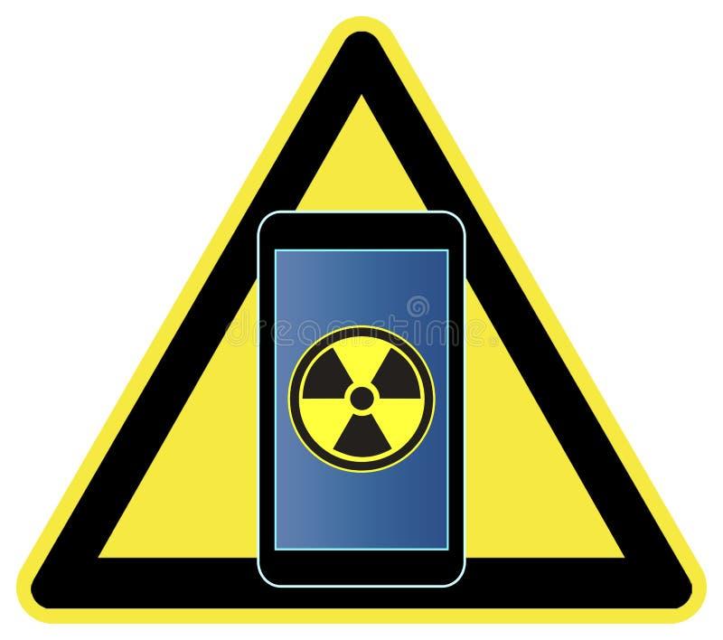 Smartphones y radiación ilustración del vector