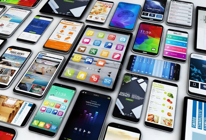Smartphones y tabletas fotos de archivo