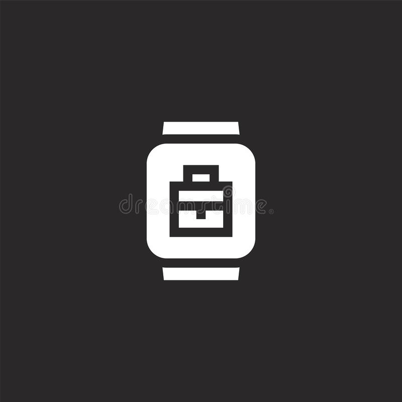 smartwatch εικονίδιο Γεμισμένο smartwatch εικονίδιο για το σχέδιο ιστοχώρου και κινητός, app ανάπτυξη smartwatch εικονίδιο από τη απεικόνιση αποθεμάτων