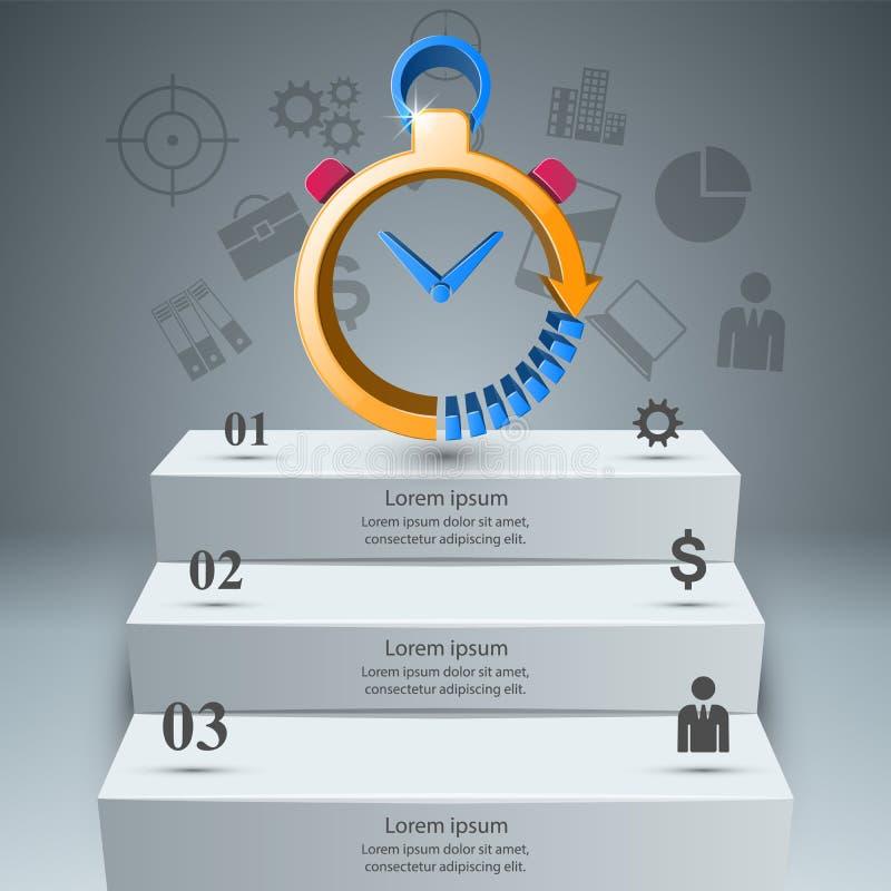 Smartwatch, часы, вахта, значок сигнала тревоги Абстрактное infographic иллюстрация вектора